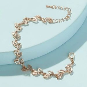 ✨💫🍃leaf design elegant tennis bracelet 🍃✨💫